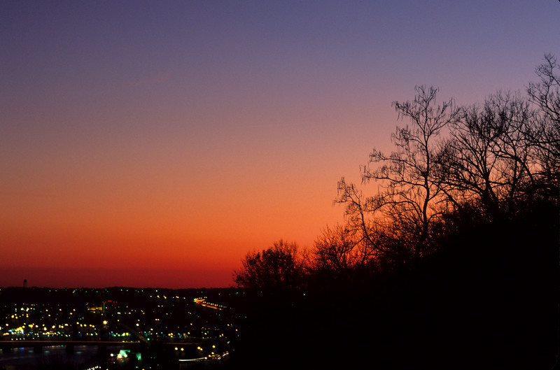 Sunset Cityscape from Eden Park, Cincinnati, OH