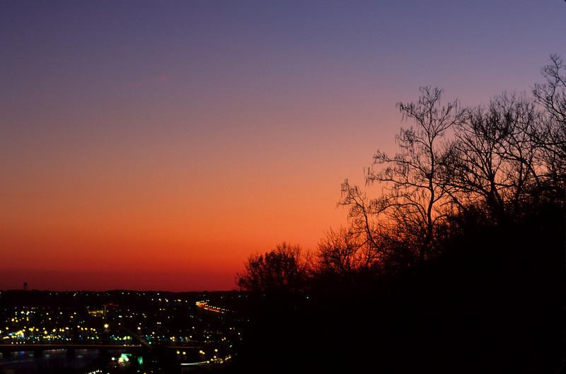 Sunset Cityscape from Eden Park, Cincinnati, OH