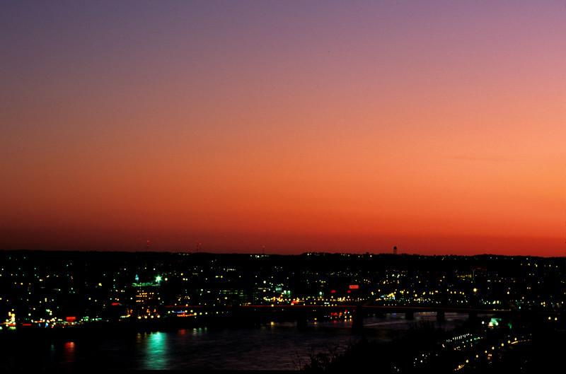 Sunset over Newport, KY