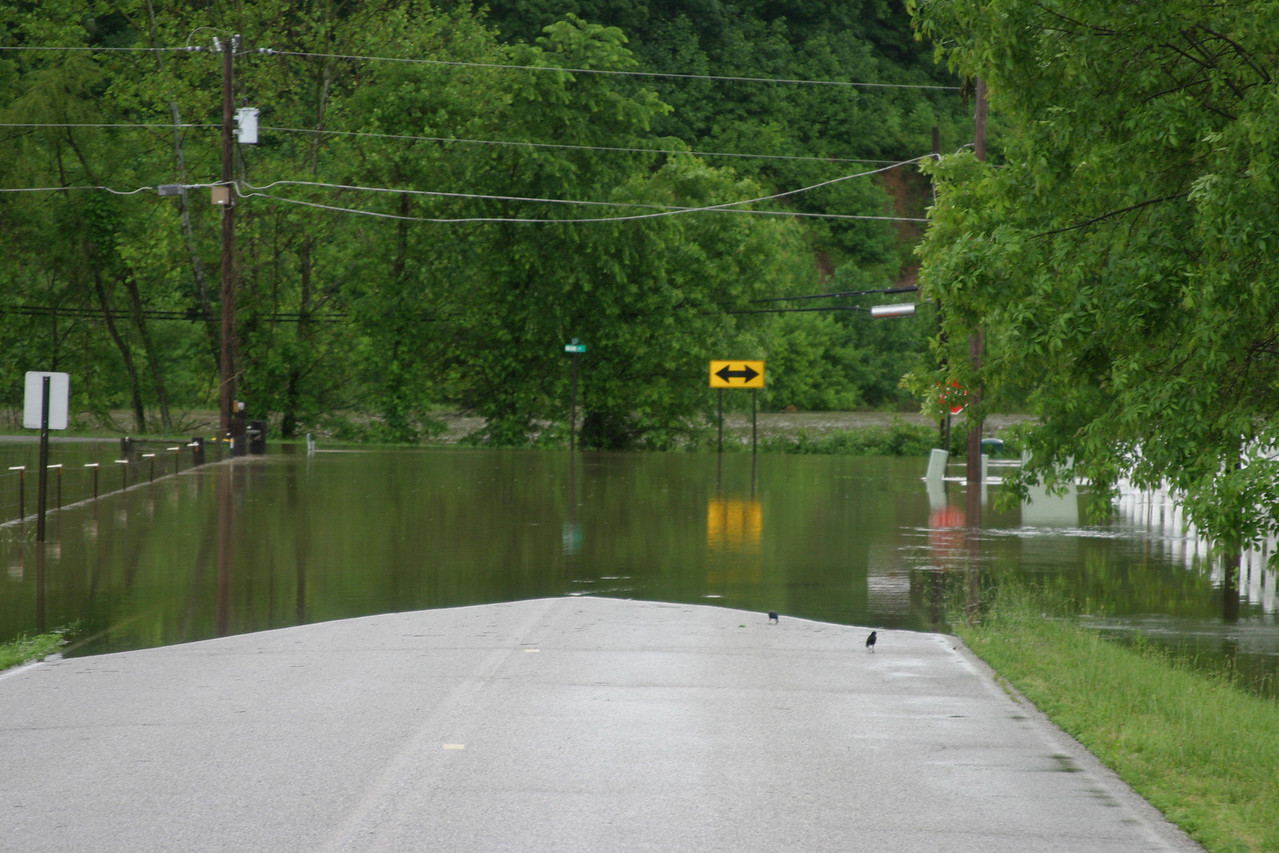Snake Creek, Flesher Road and Main Street one mile north of Seelyville.
