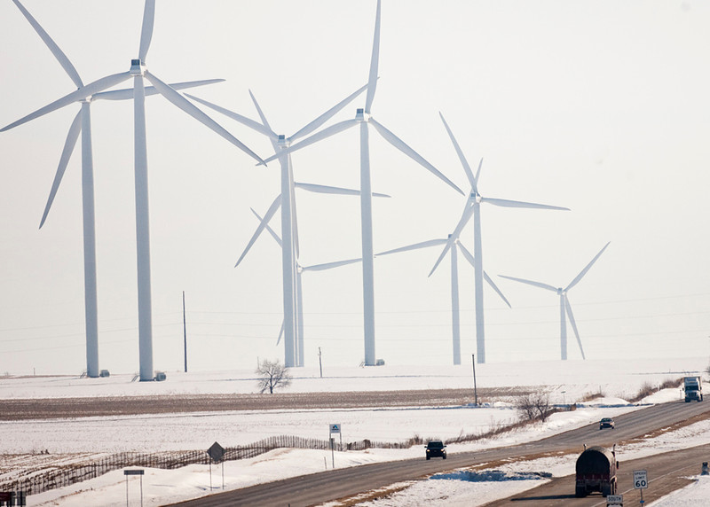 Benton County Indiana windfarm.  2011.