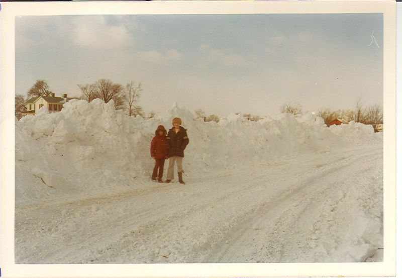 The Blizzard of 1978,, North of Terre Haute, Indiana.
