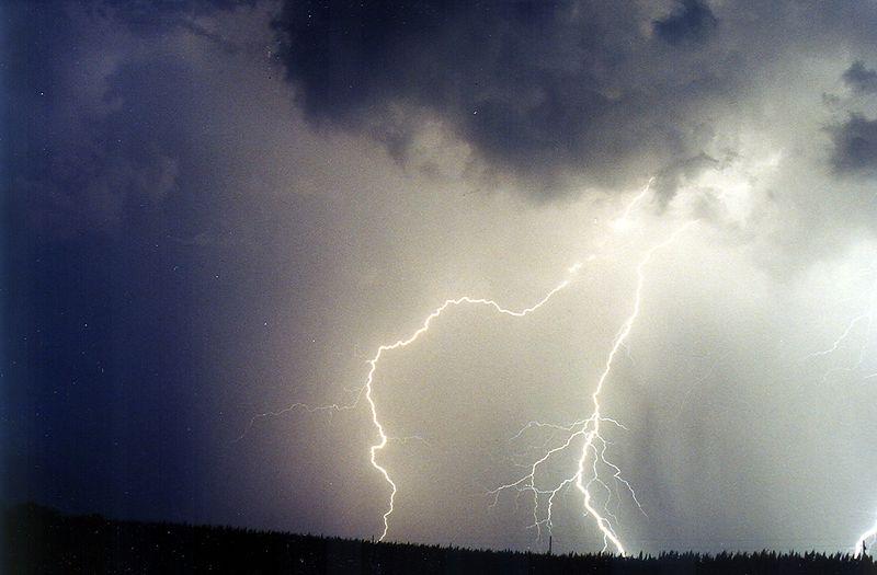 Lightning cloud, Warren County, Indiana, July 2001.