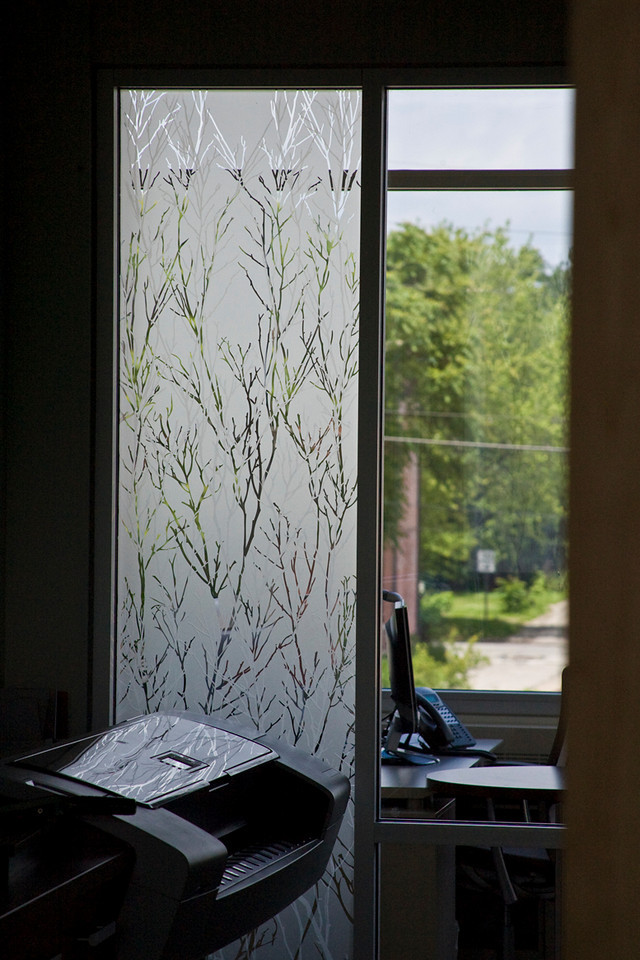 This frosted glass design is used throughout the building.  I really liked it.