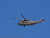 15 Oct 2011 RN Helecopter flying low over the Hayling Billy Trail.