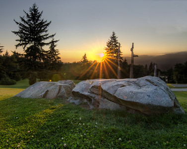 HDR Sunset on Burnaby Mountain.