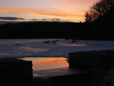 Hunt's Pond sunset