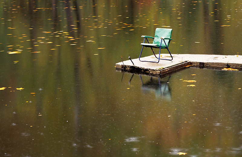 Green Chair on Dock
