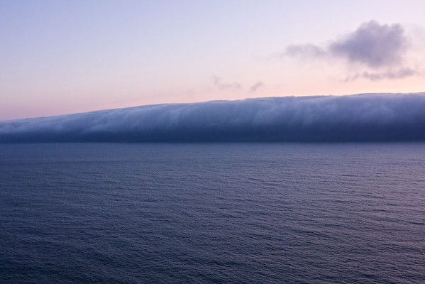 A cloud bank rolls in for the evening.