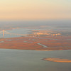 Airborne view of the Sidney Lanier Bridge and Brunswick Harbor area