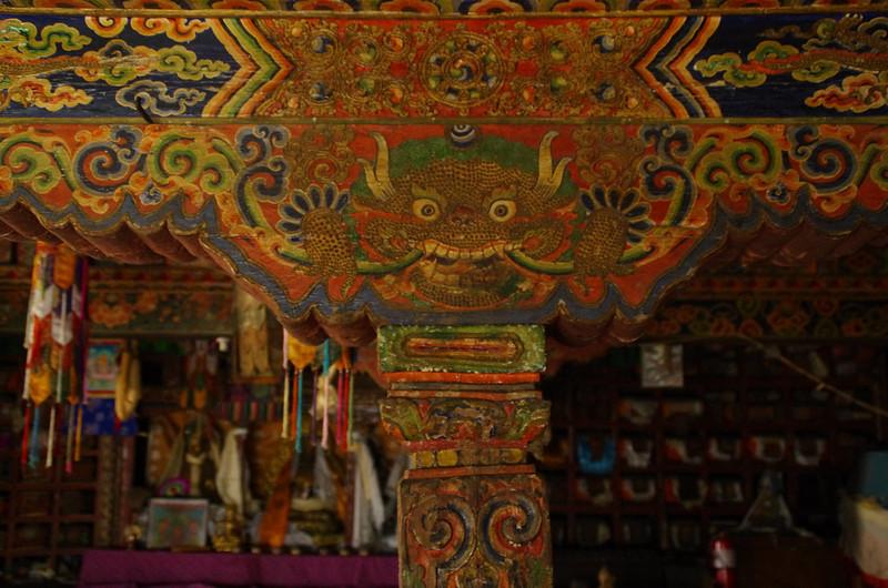 Visit of the old dragon monastery, Goumpa, Langtang Himalayas