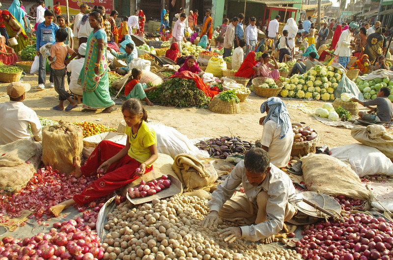 The market in Janakpur