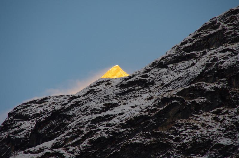 Mount Machapuchare (6997 Meter) at sunset