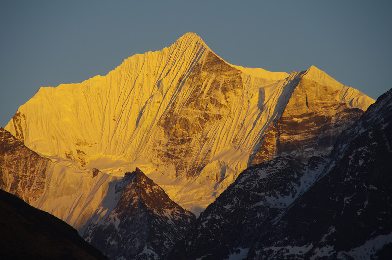 Mighty Gangchenpo at sunset (6378 Meter)