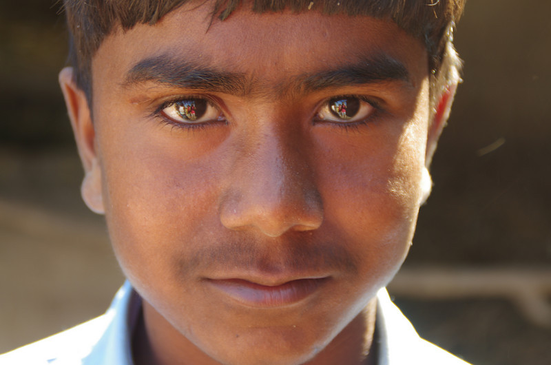 Young indian guy at border of India and Nepal