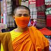 Beautiful monk in Thamel, Kathmandu