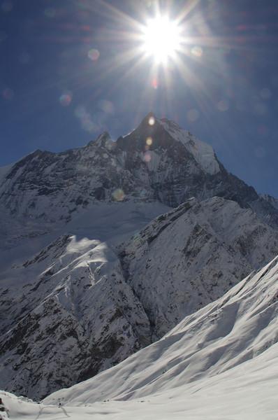 Johanna+mighty Machapuchare (6997 Meter)