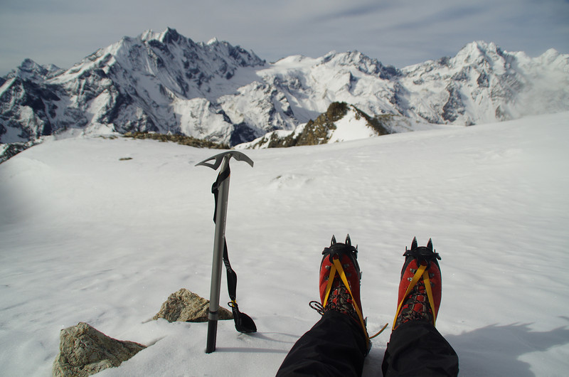 Playing with crampons and Ice axe in the Himalayas was a dream of mine since I was very little. I always wanted to go!