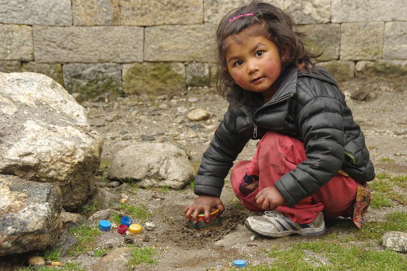 Young Khumbu inhabitant in Monjo