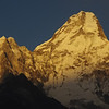 The Ama Dablam at sunset (6820 Meter)