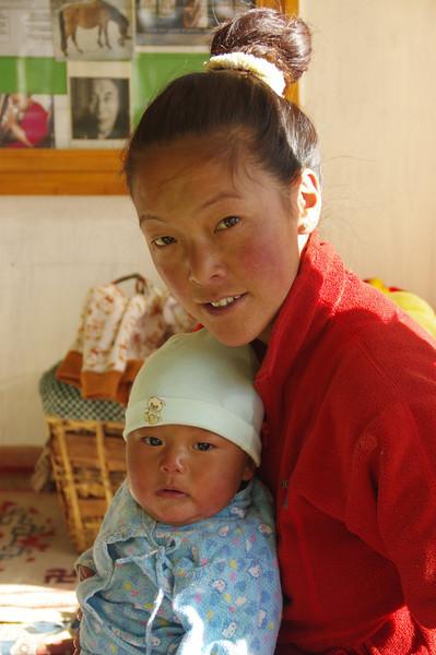 Sherpani and her freshly born Tenzing Sherpa