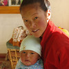 Sherpani and her freshly born Tenzing Sherpa