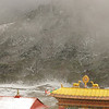 Blizzard at Tengboche monastery