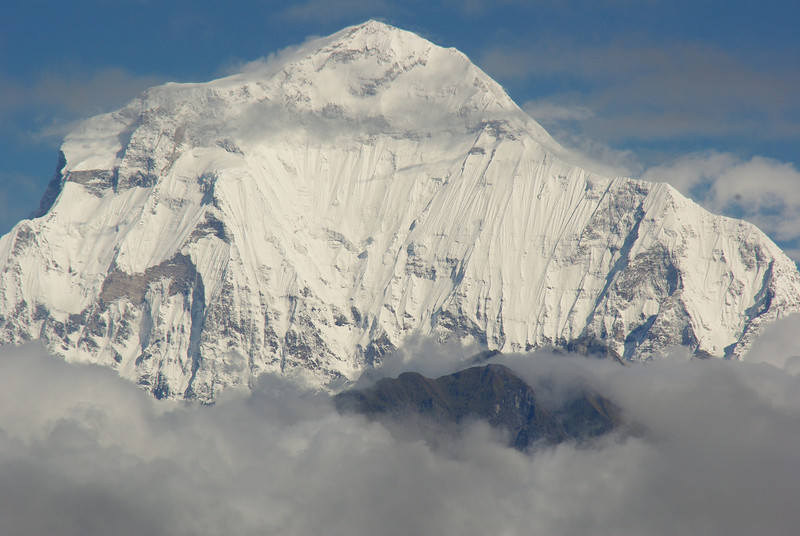 The white mountain, Dhaulagiri, worlds 7th highest mountain, 8172 Meters