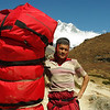 Awesome insane guy in Solu Khumbu, carrying 90kg's