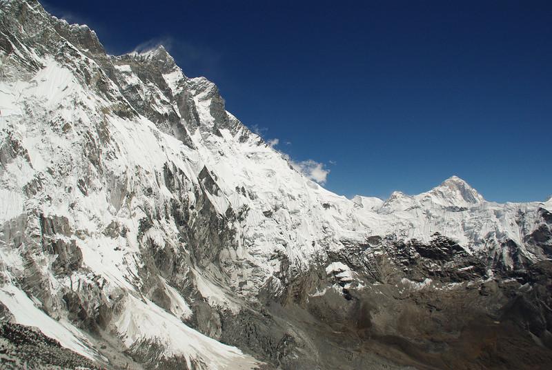 Lhotse South Face and Mount Makalu