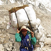 A Porter in the Everest Region carrying 120 kg's!