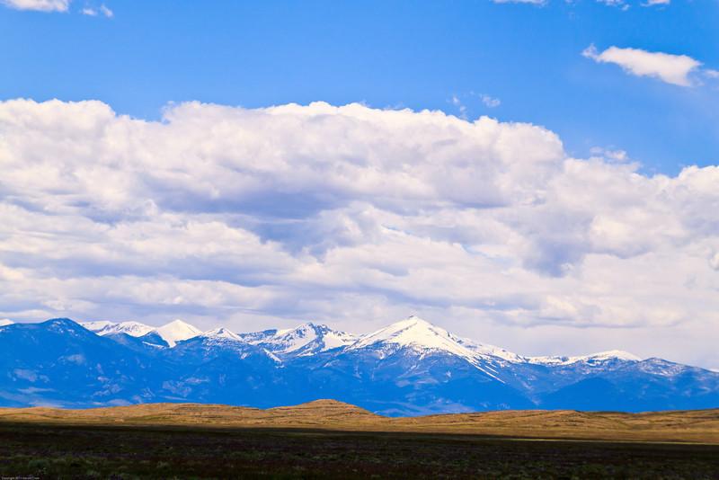 A landscape taken June 7, 2011 near Ely, NV.