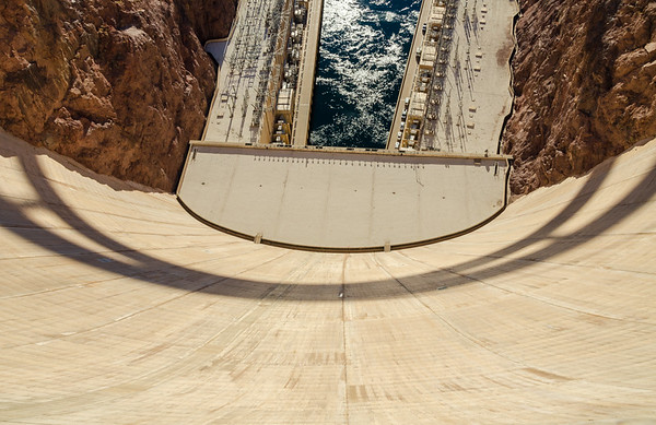 Looking Down at the Hoover Dam