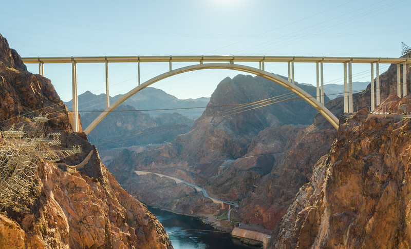 Bridge and Valley View at the Hoover Dam