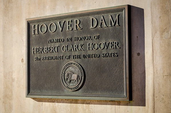 Plaque at the Hoover Dam