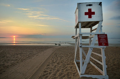 Sunrise at Old Orchard Beach, Maine, August 2012