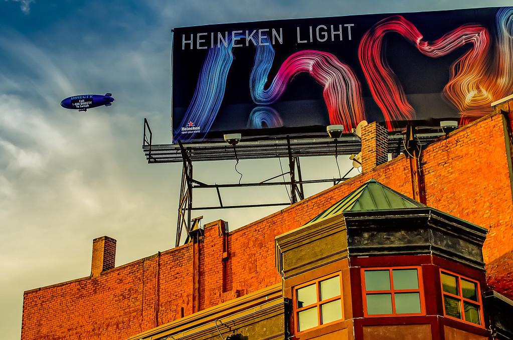 North End - Blimp and Billboard - Boston