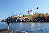 Fishing at Cape Neddick (Nubble) Lighthouse