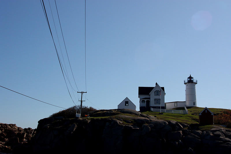 Cape Neddick (Nubble) Lighthouse with Cables