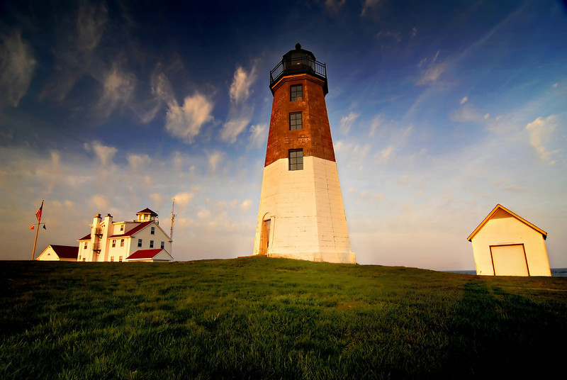 Point Judith Light House at sunset