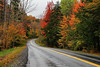 The Chelsea Road near Chelsea, Vermont. This was the first patch of good autumn colors I found in Vermont. Most of the state had lost many of its leaves due to a tropical storm that hit two days before my trip. The middle of Vermont was smoking with good color, but still likely below normal for this time of year.