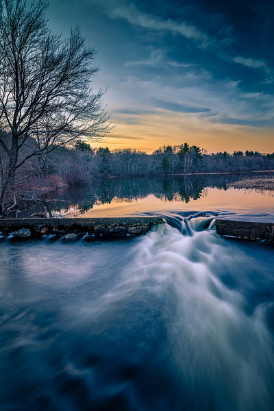 Dusk Settles in over Howard Pond # 2 - Cumberland, RI