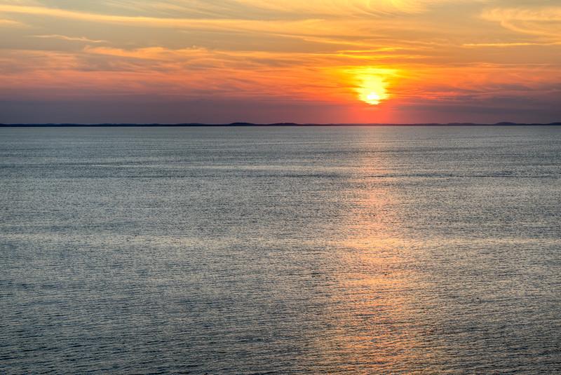 Halibut Point State Park Sunset - Rockport MA - Tom Sloan