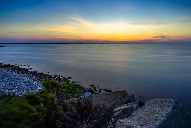 Halibut Point State Park Sunset Long Exposure - Rockport MA - Tom Sloan