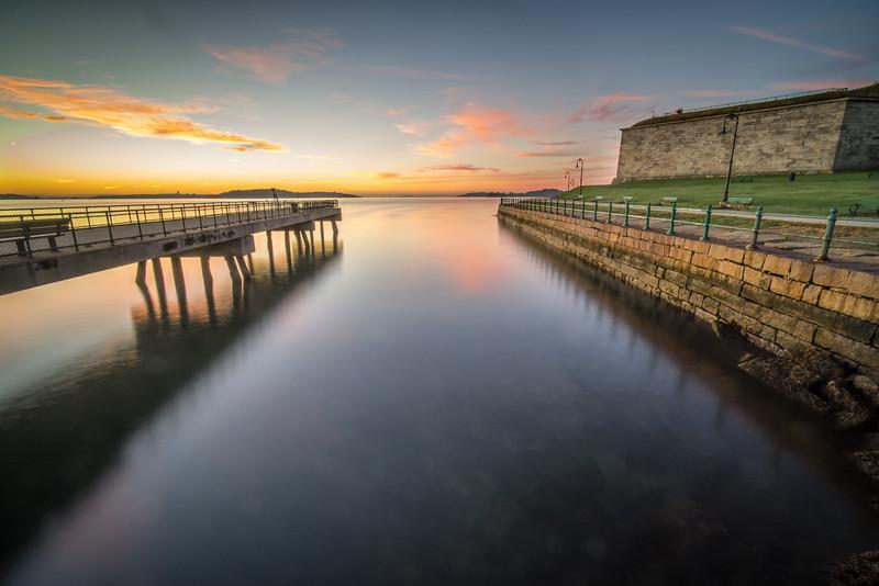 Castle Island Sunrise - Boston MA - Tom Sloan