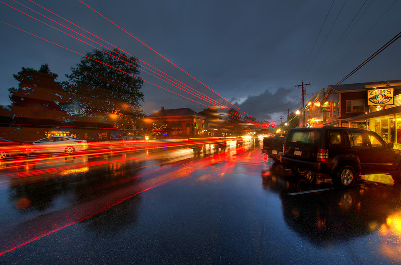 Rainstorm Tail Lights: North Conway, NH. Order a limited addition print of 100