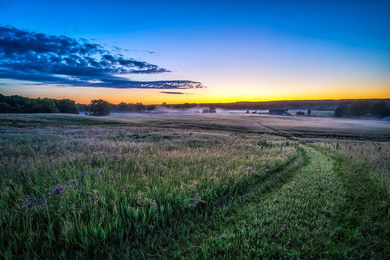 Dawn Breaks at Metcalf Franklin Farm - Cumberland, RI - Tom Sloan