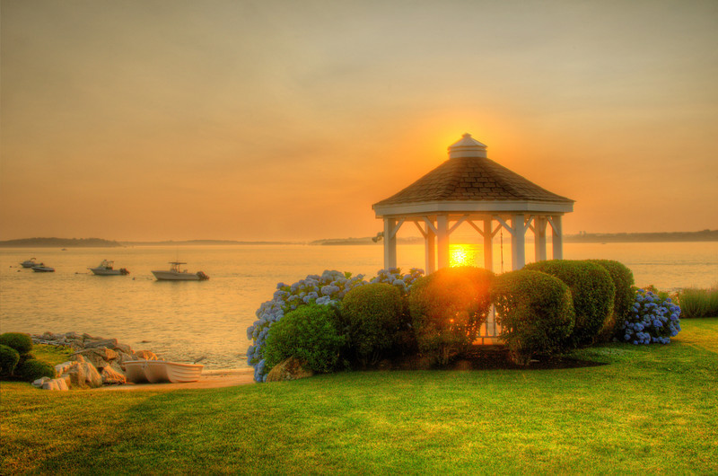 Gazebo Morning: Narraganset, RI. Order limited addition print of 100.