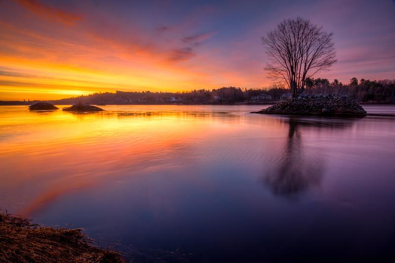 Penobscot River Sunrise 1 - Bangor ME - Tom Sloan