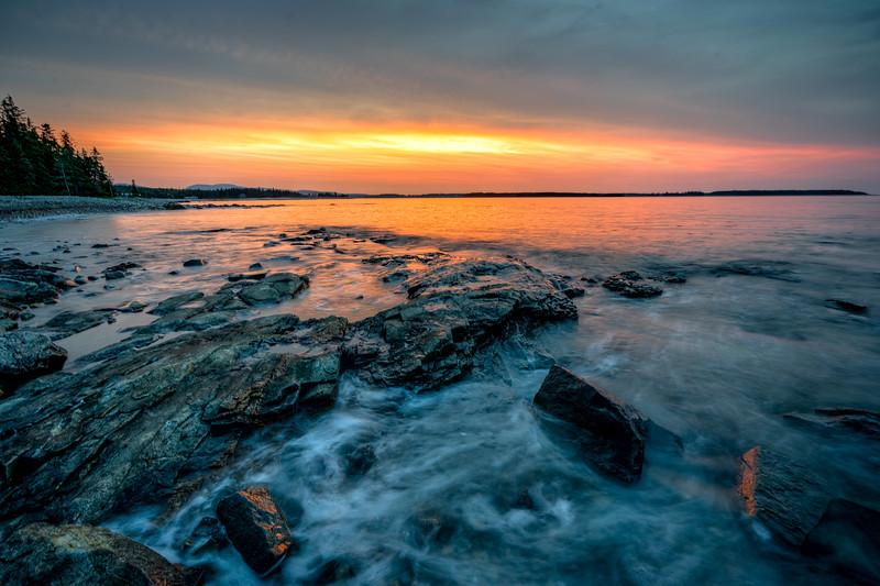 Seawall Sunrise at Acadia National Park, Maine